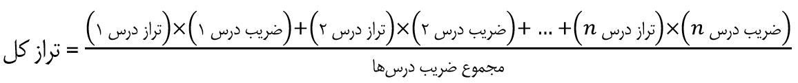 فرمول محاسبه تراز کل در آزمون کنکور وکالت